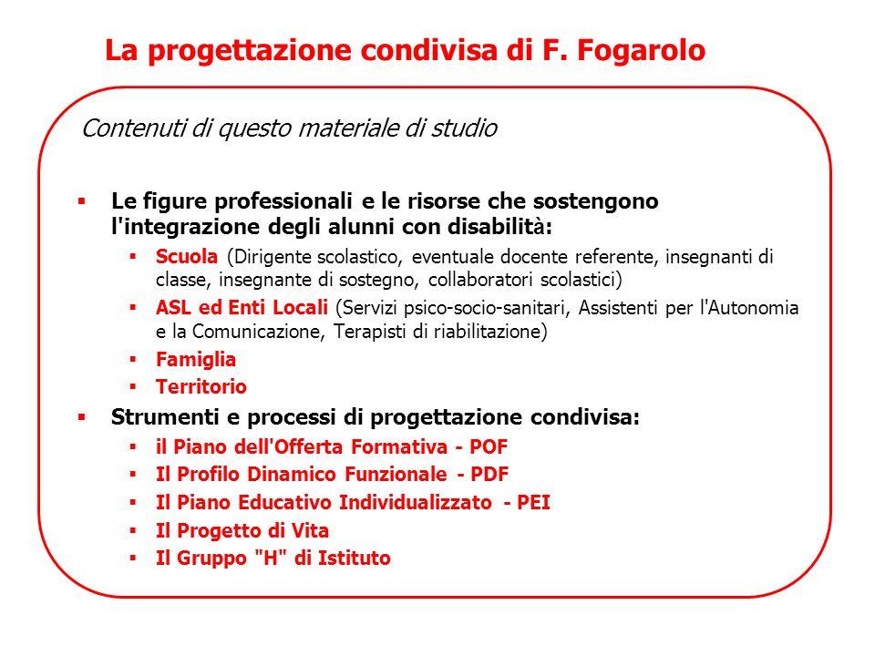 La progettazione condivisa di F. Fogarolo