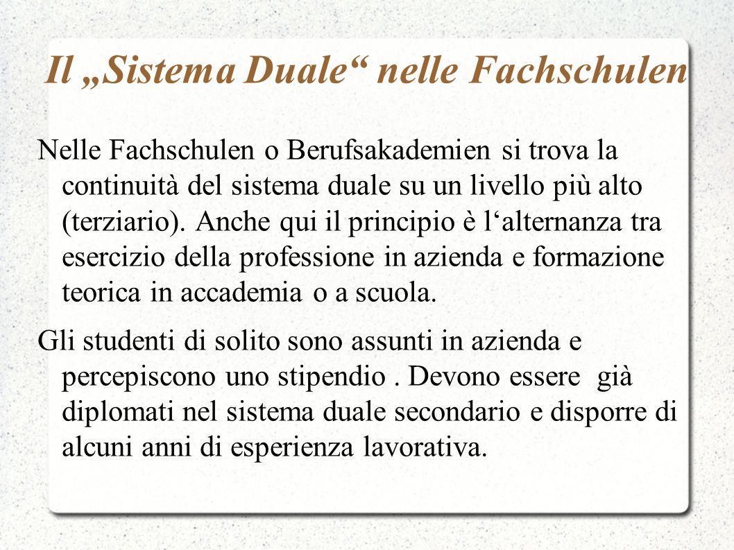 """Il """"Sistema Duale nelle Fachschulen"""