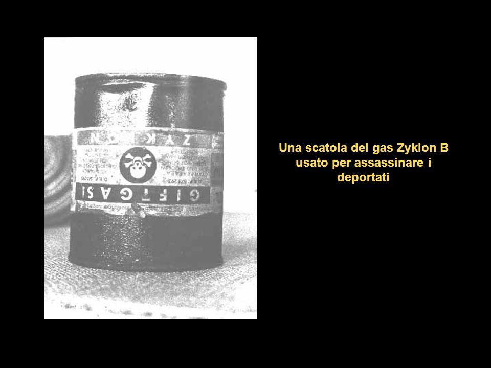 Una scatola del gas Zyklon B usato per assassinare i deportati
