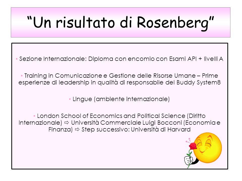 Un risultato di Rosenberg
