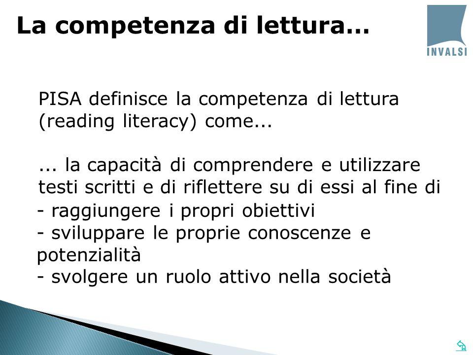 La competenza di lettura…
