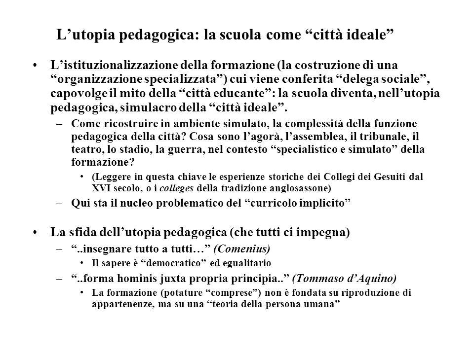L'utopia pedagogica: la scuola come città ideale