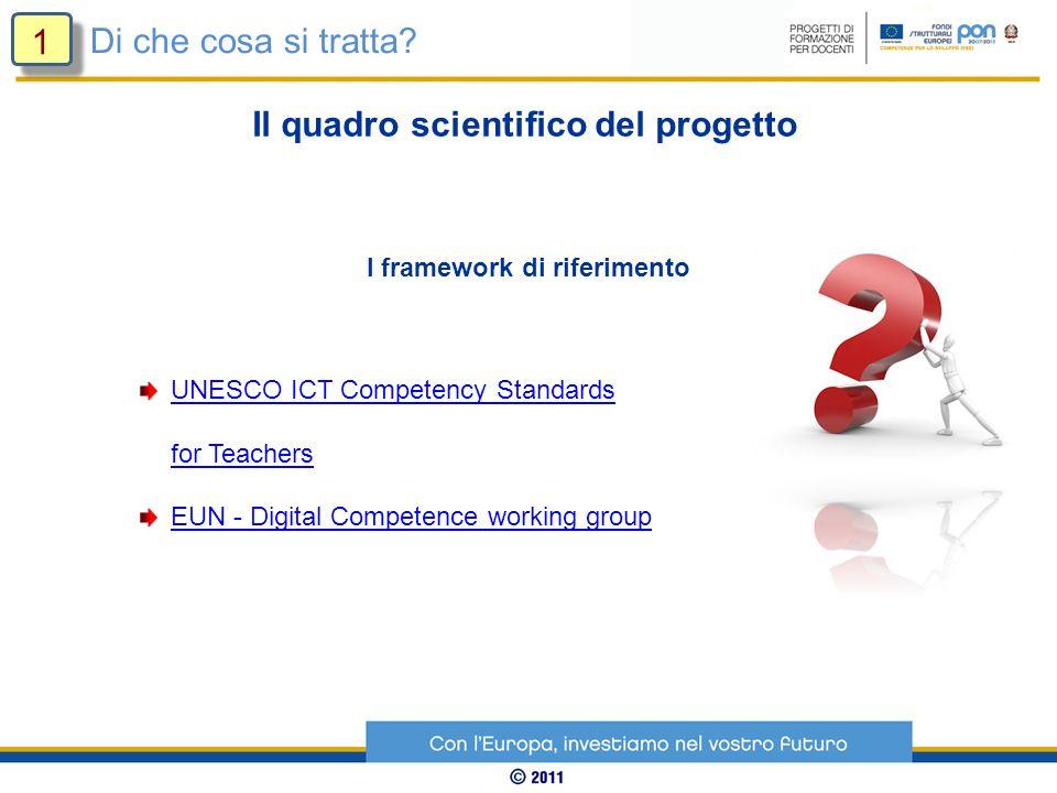 Il quadro scientifico del progetto I framework di riferimento