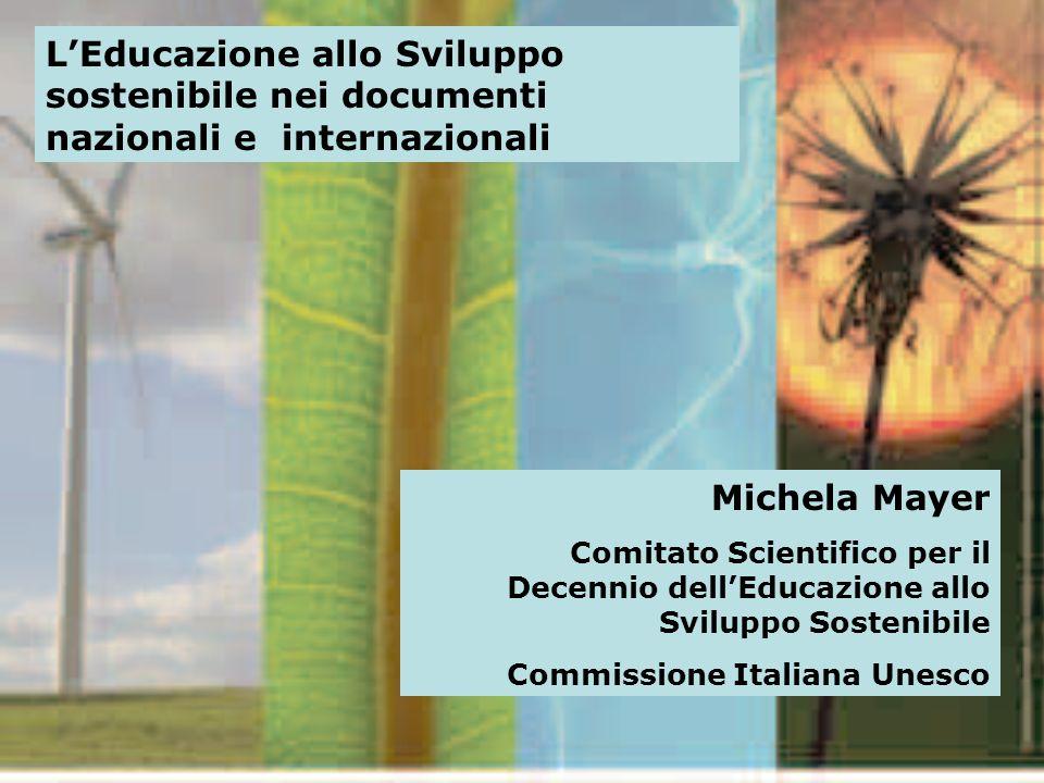 L'Educazione allo Sviluppo sostenibile nei documenti nazionali e internazionali