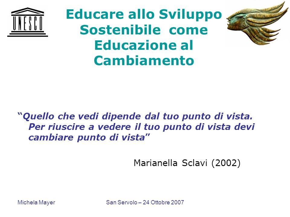 Educare allo Sviluppo Sostenibile come Educazione al Cambiamento