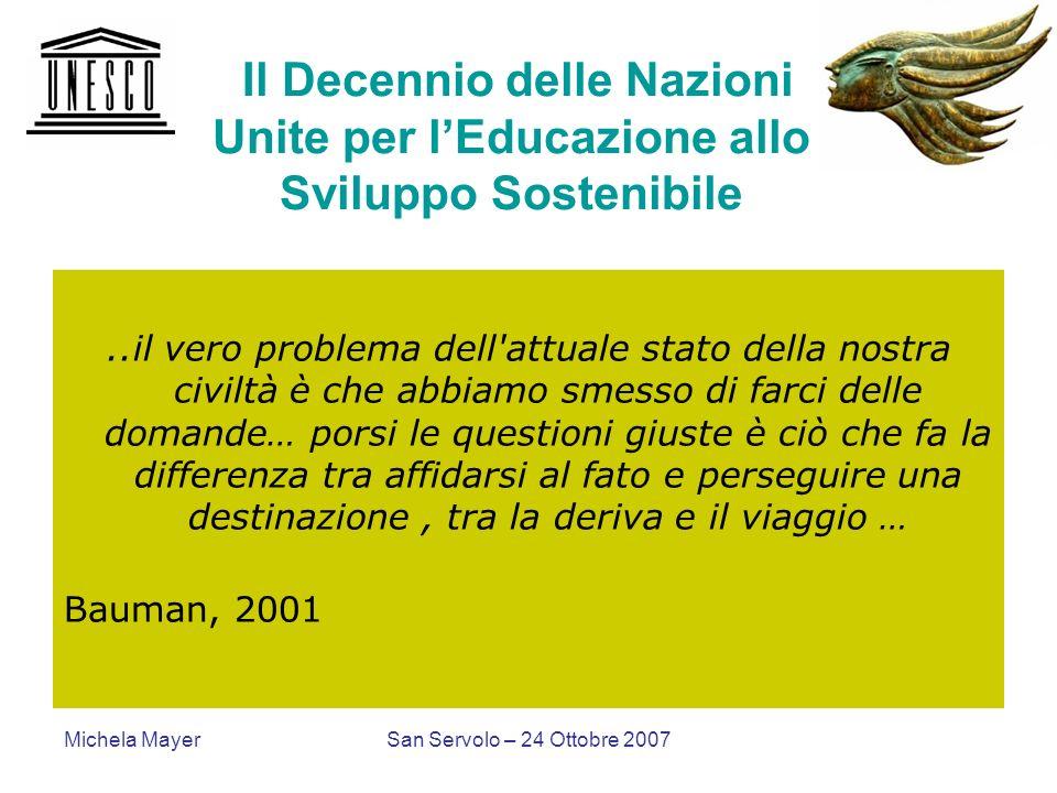 Il Decennio delle Nazioni Unite per l'Educazione allo Sviluppo Sostenibile