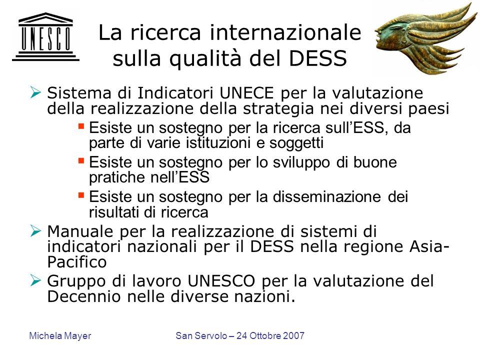 La ricerca internazionale sulla qualità del DESS