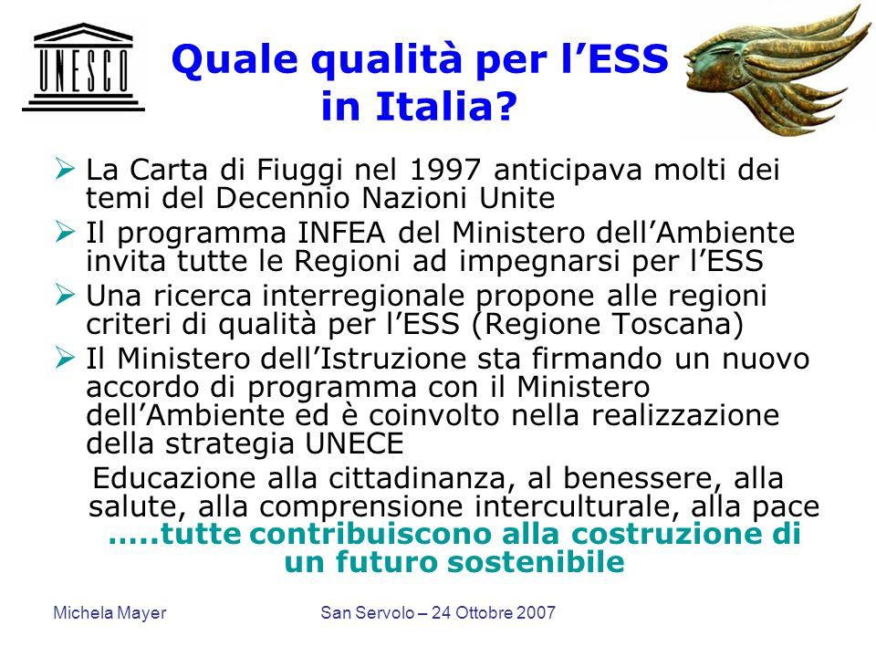 Quale qualità per l'ESS in Italia