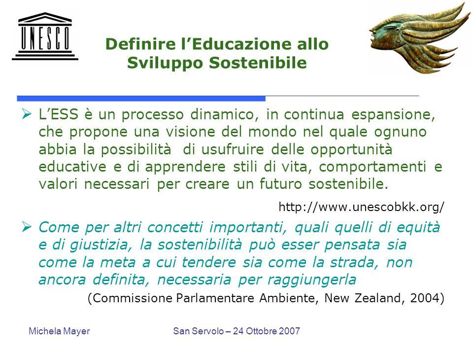 Definire l'Educazione allo Sviluppo Sostenibile