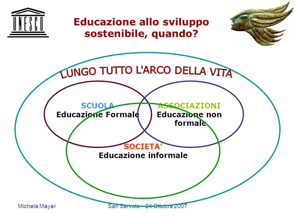 Educazione allo sviluppo sostenibile, quando