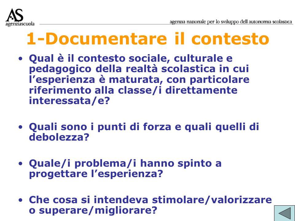 1-Documentare il contesto