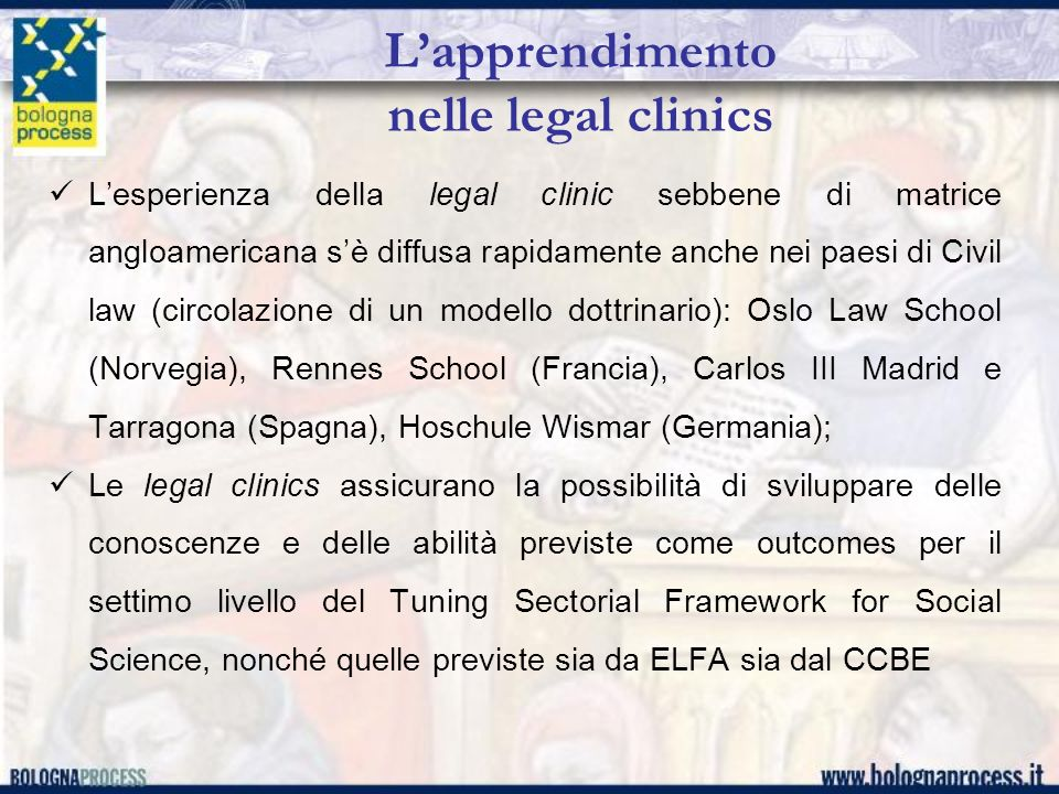 L'apprendimento nelle legal clinics