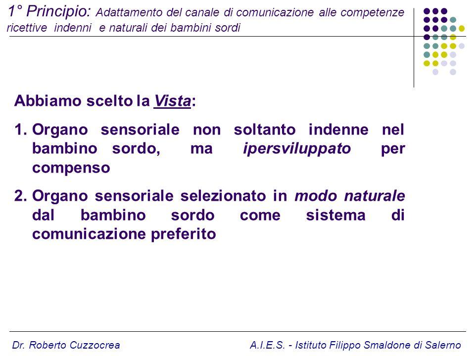 1° Principio: Adattamento del canale di comunicazione alle competenze ricettive indenni e naturali dei bambini sordi