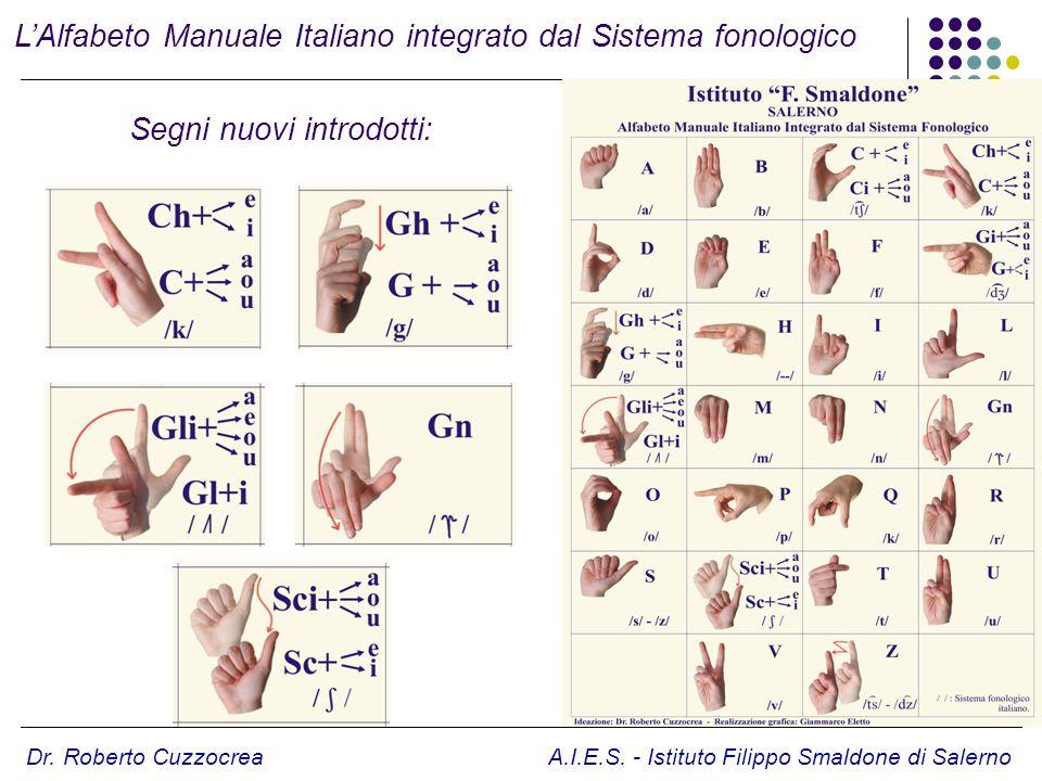 L'Alfabeto Manuale Italiano integrato dal Sistema fonologico