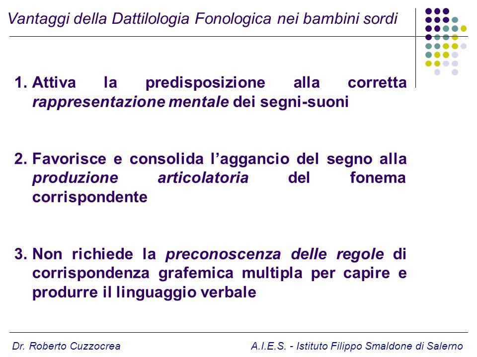 Vantaggi della Dattilologia Fonologica nei bambini sordi