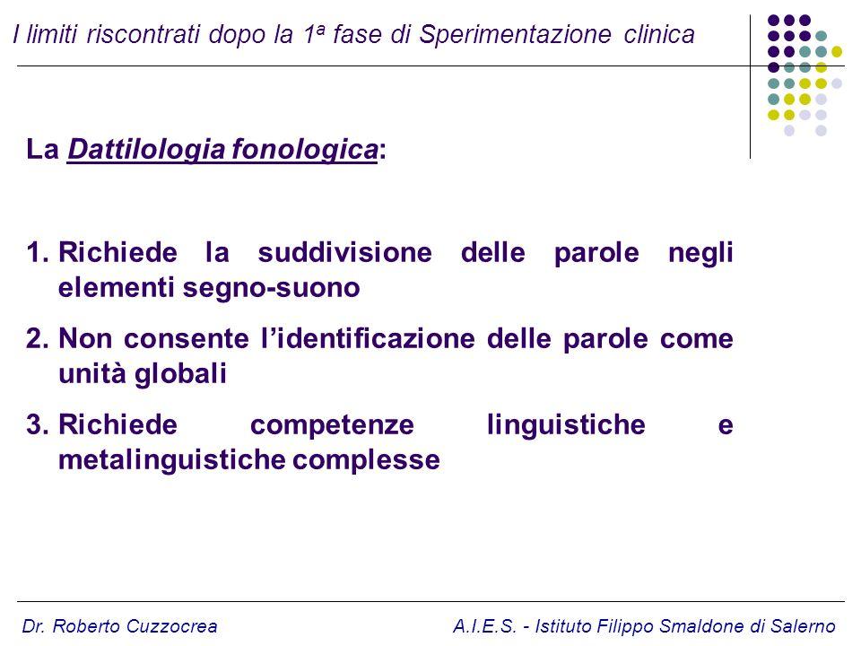 La Dattilologia fonologica: