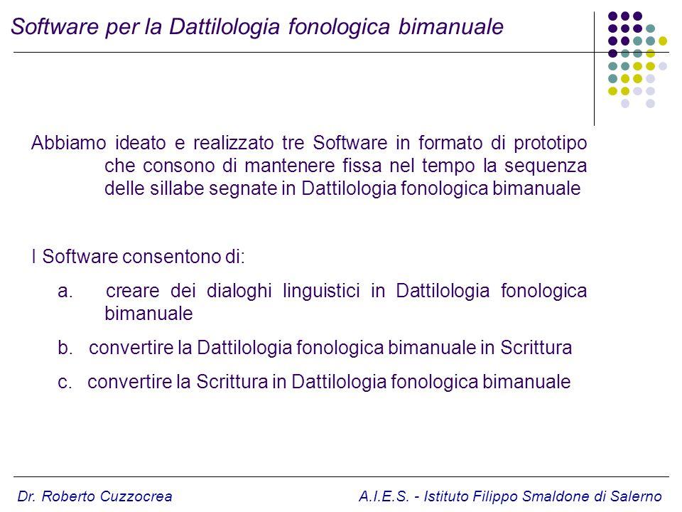 Software per la Dattilologia fonologica bimanuale