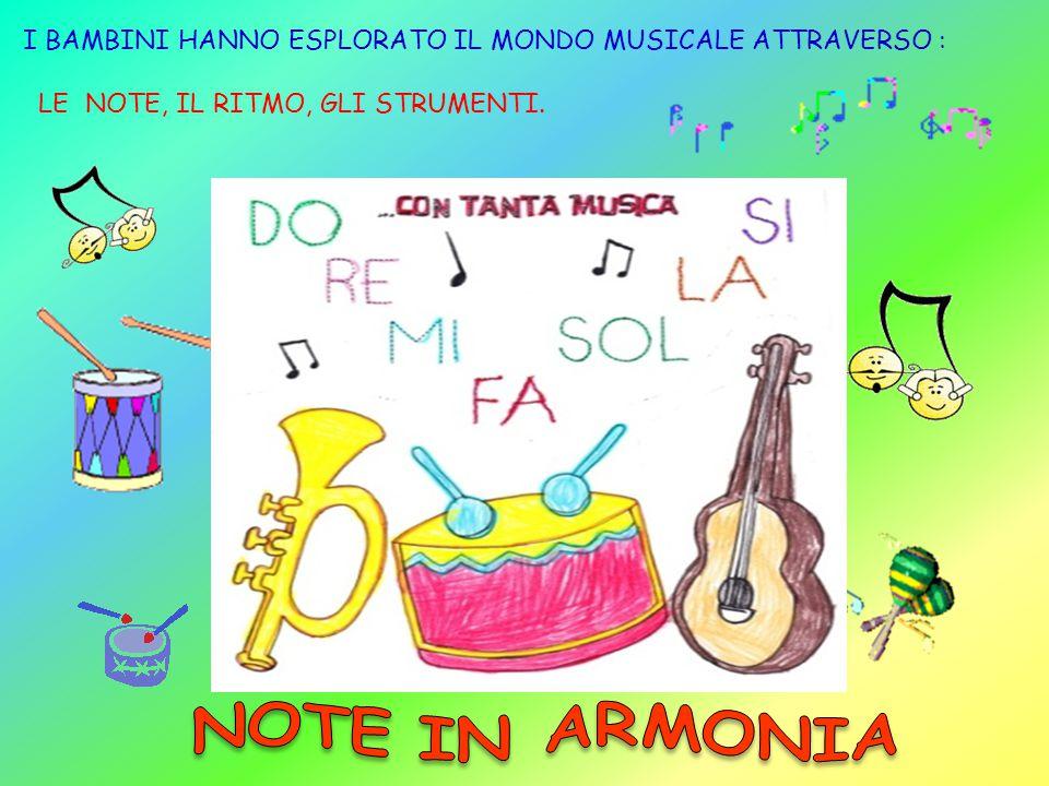 I BAMBINI HANNO ESPLORATO IL MONDO MUSICALE ATTRAVERSO :