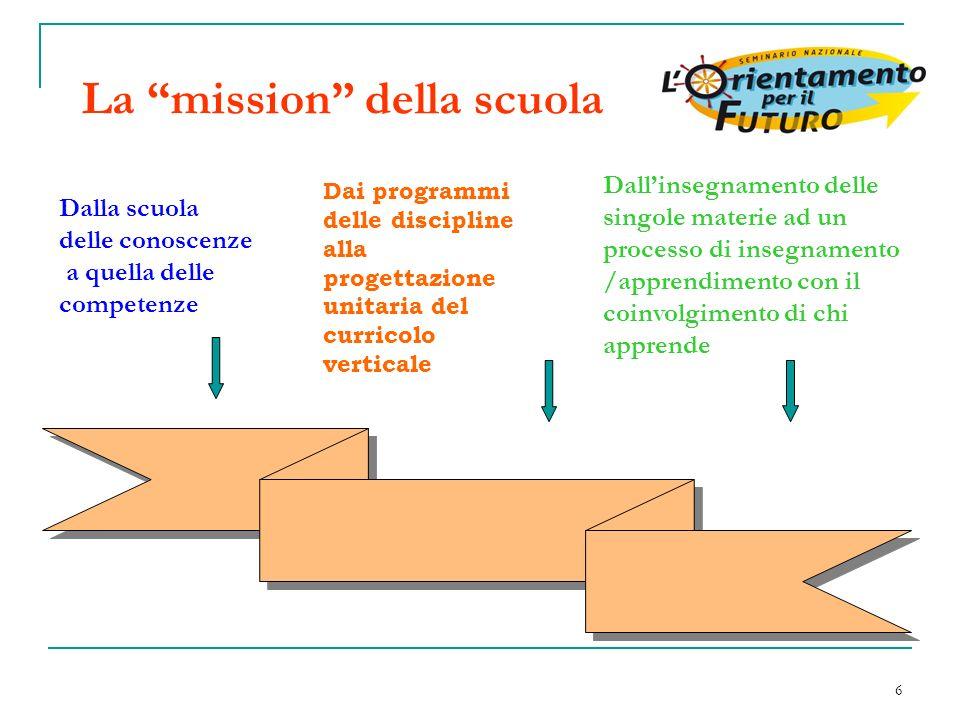 La mission della scuola