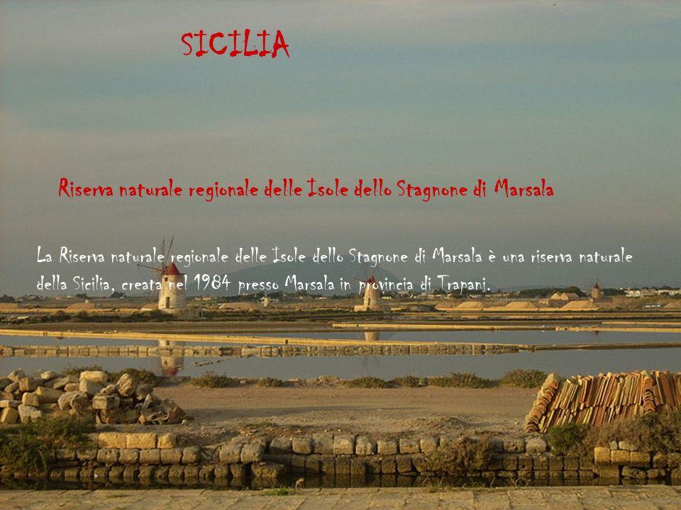 SICILIA Riserva naturale regionale delle Isole dello Stagnone di Marsala.