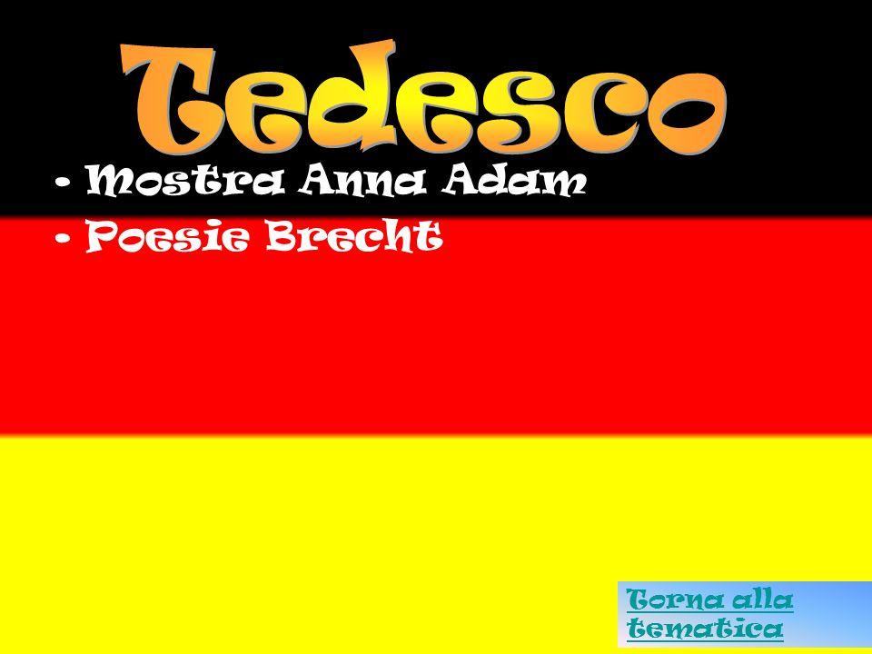 Tedesco Mostra Anna Adam Poesie Brecht Torna alla tematica