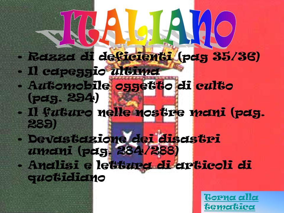 ITALIANO Razza di deficienti (pag 35/36) Il capeggio ultima