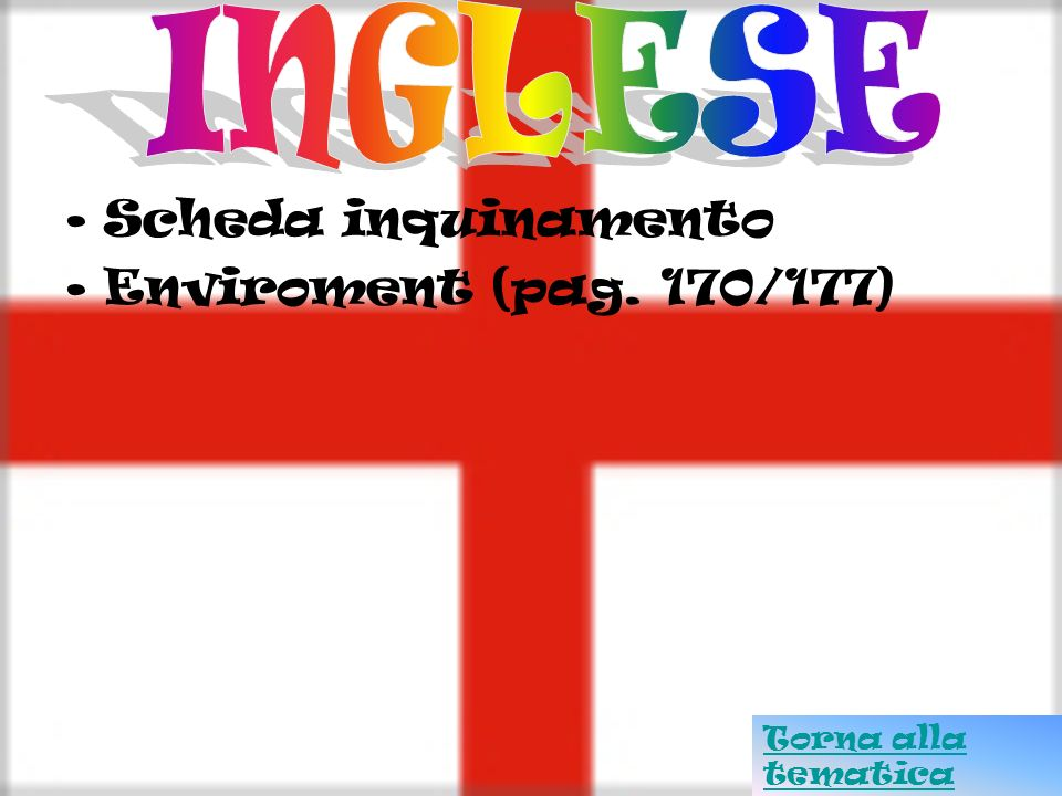 INGLESE Scheda inquinamento Enviroment (pag. 170/177)