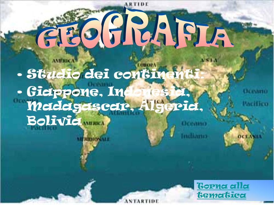 GEOGRAFIA Studio dei continenti: