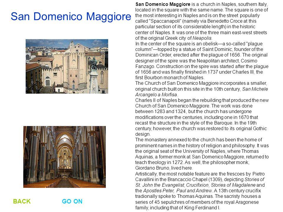 San Domenico Maggiore BACK GO ON