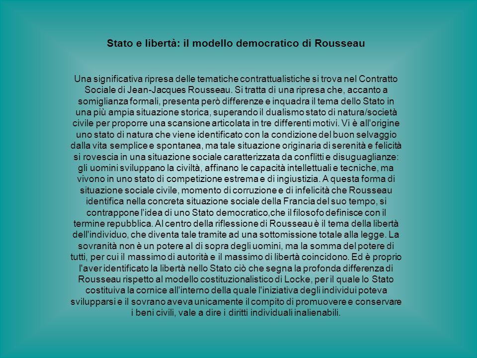 Stato e libertà: il modello democratico di Rousseau