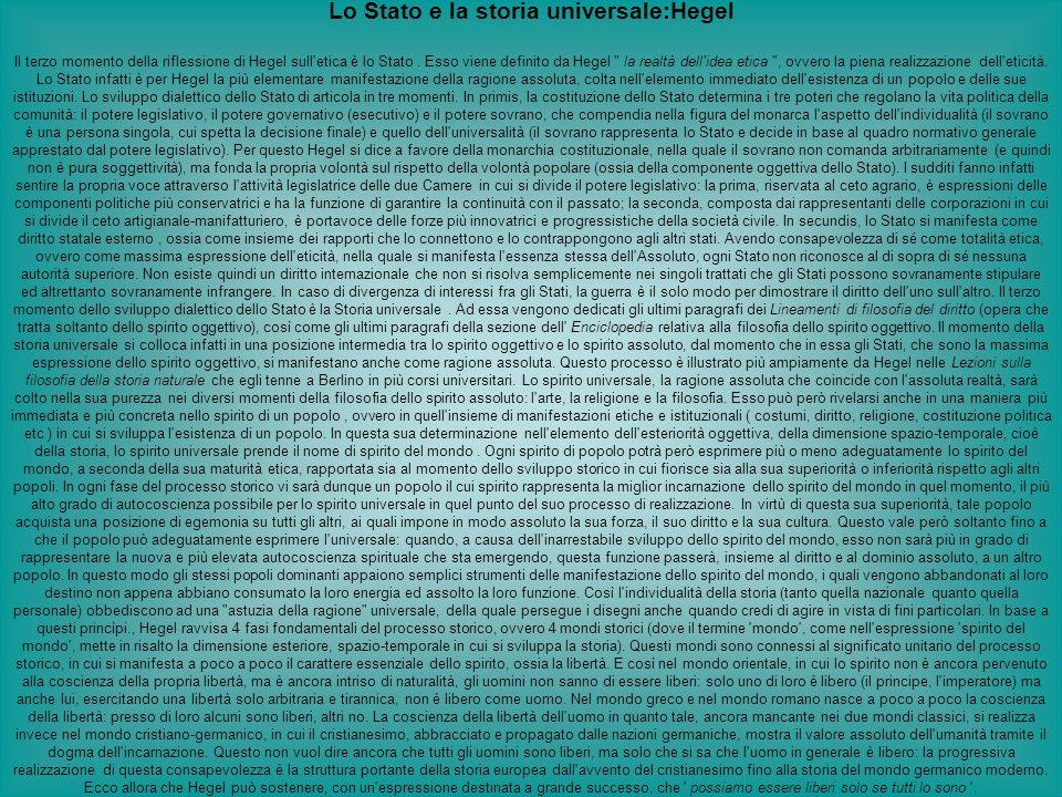 Lo Stato e la storia universale:Hegel