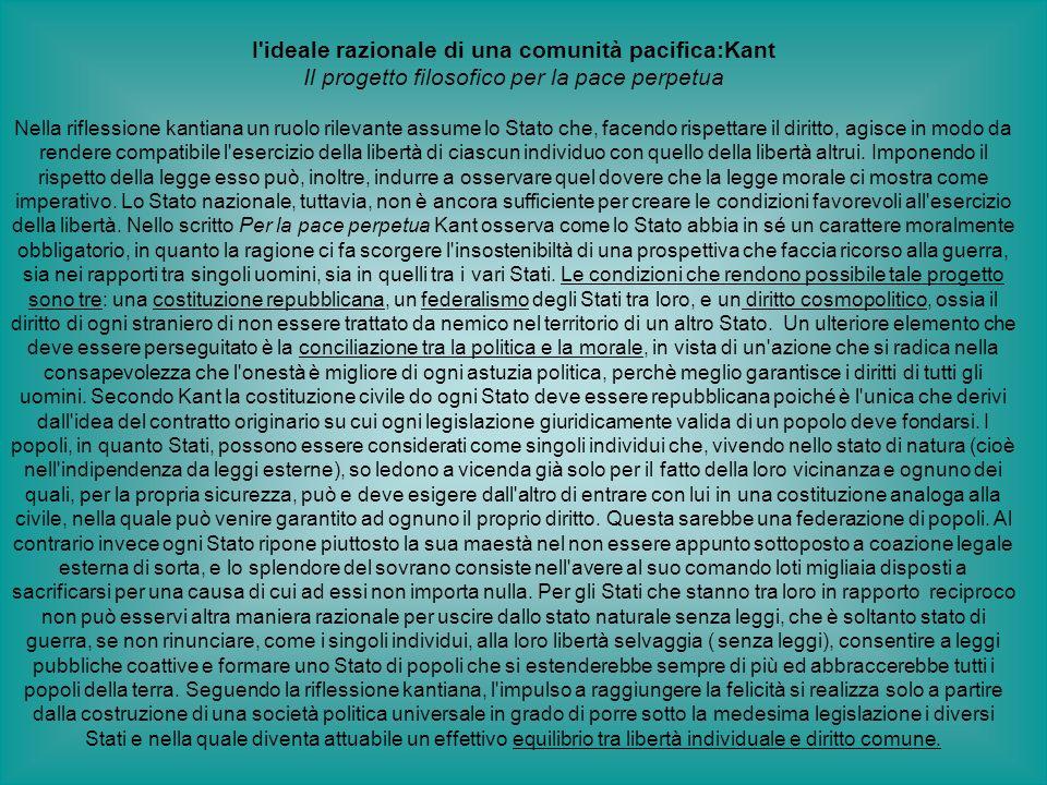 I ideale razionale di una comunità pacifica:Kant