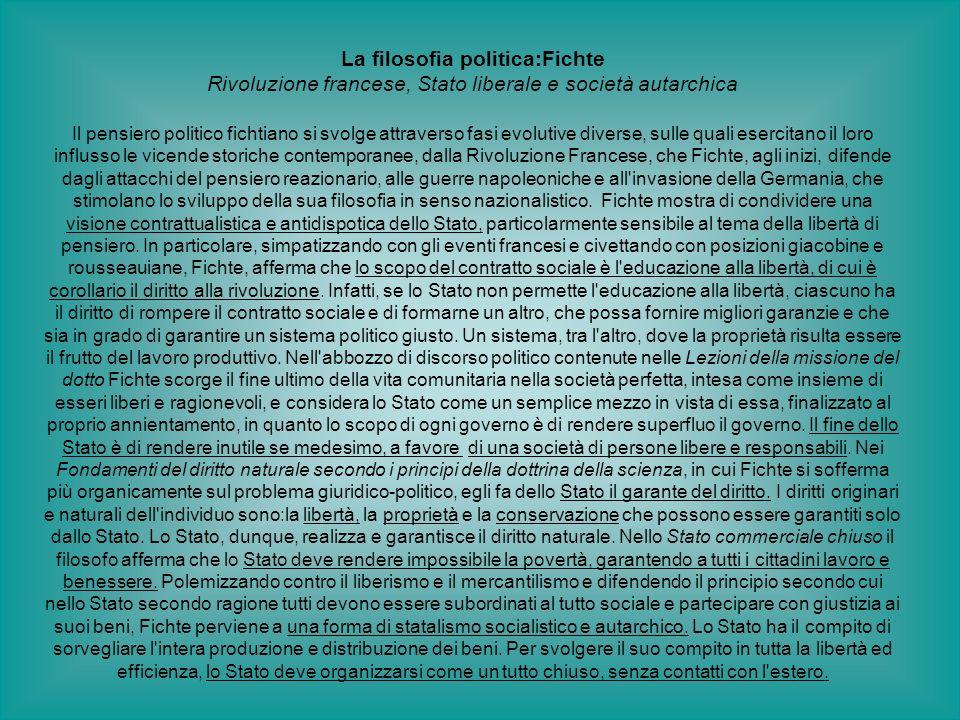 La filosofia politica:Fichte