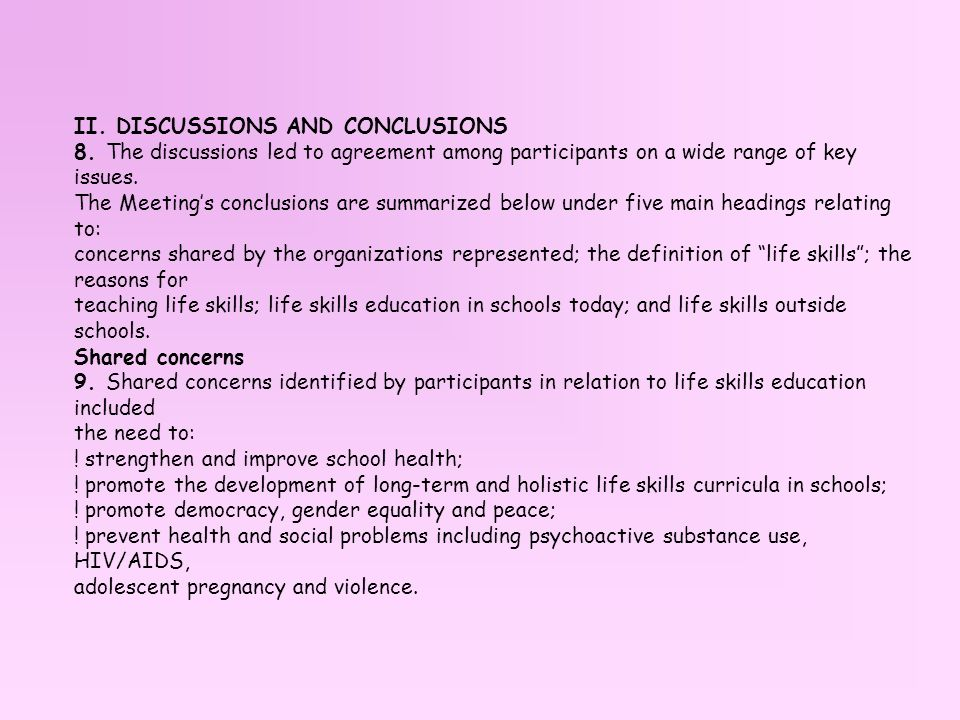 II. DISCUSSIONS AND CONCLUSIONS 8