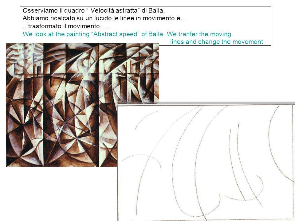 Osserviamo il quadro Velocità astratta di Balla