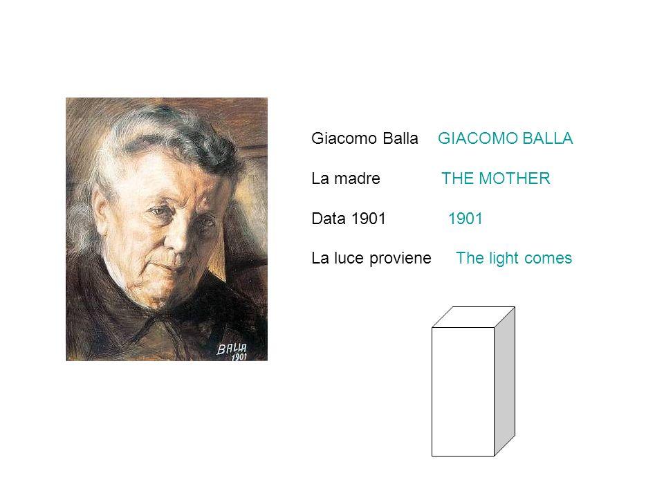 Giacomo Balla GIACOMO BALLA