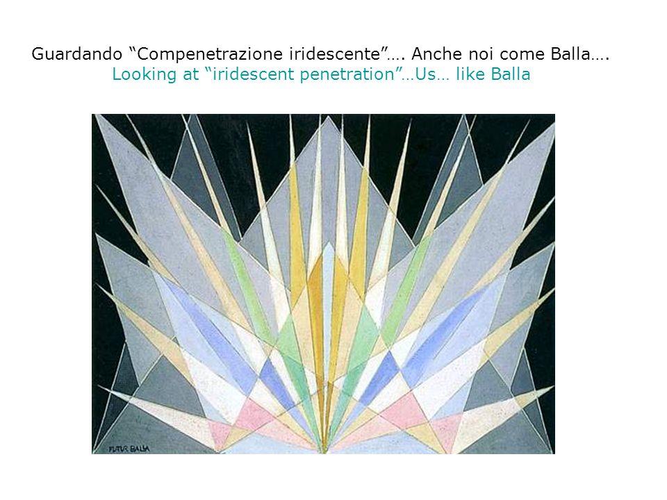 Guardando Compenetrazione iridescente …. Anche noi come Balla….