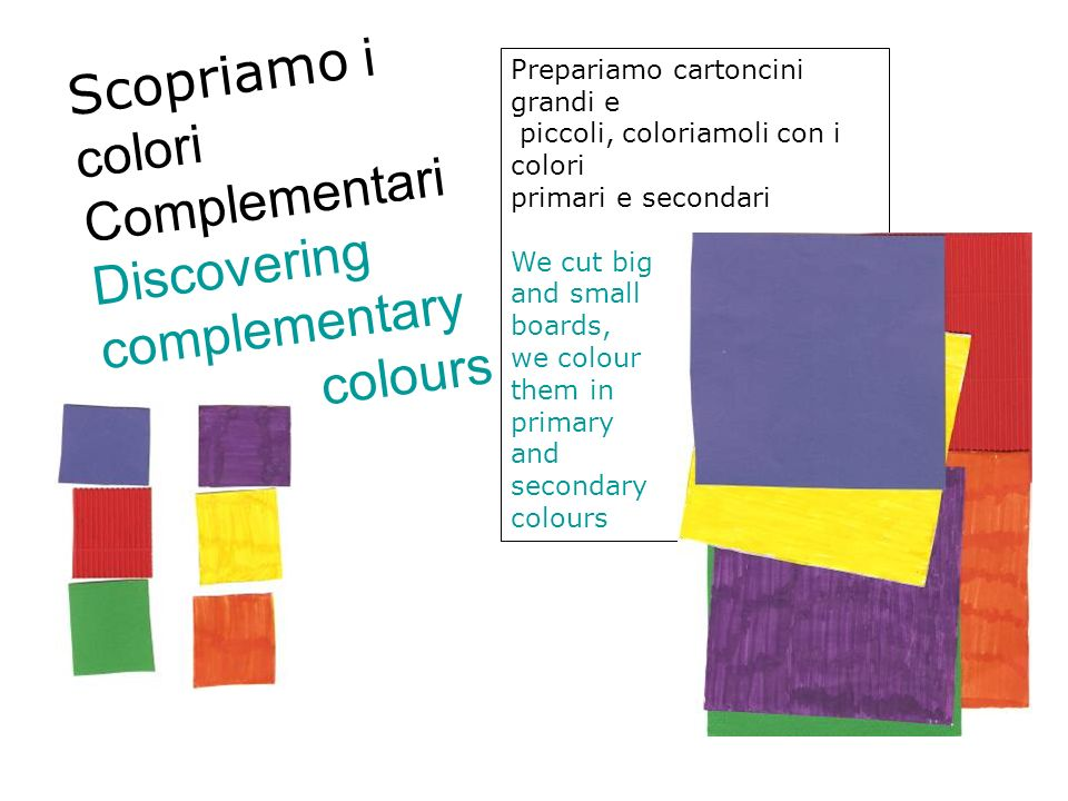 Discovering complementary colours