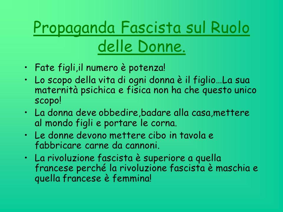 Propaganda Fascista sul Ruolo delle Donne.