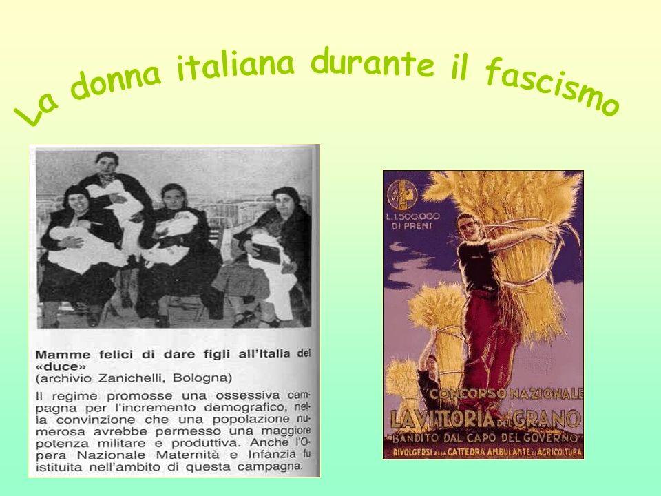 La donna italiana durante il fascismo