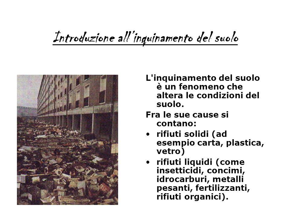 Introduzione all'inquinamento del suolo