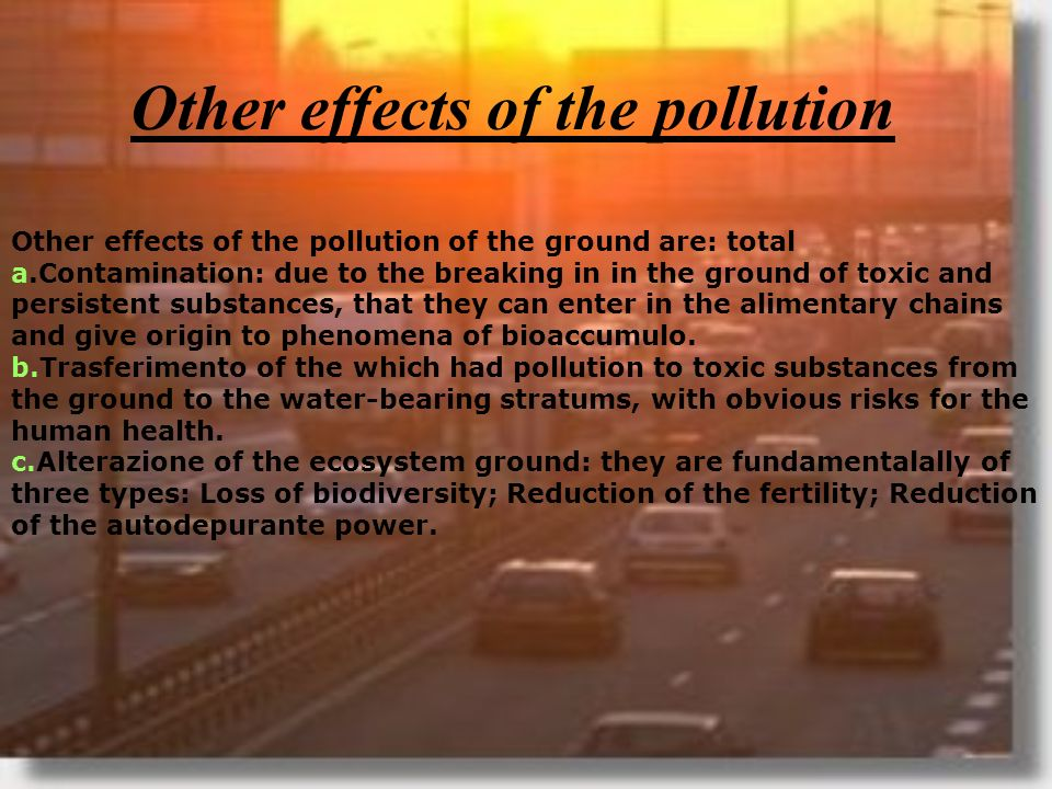Other effects of the pollution