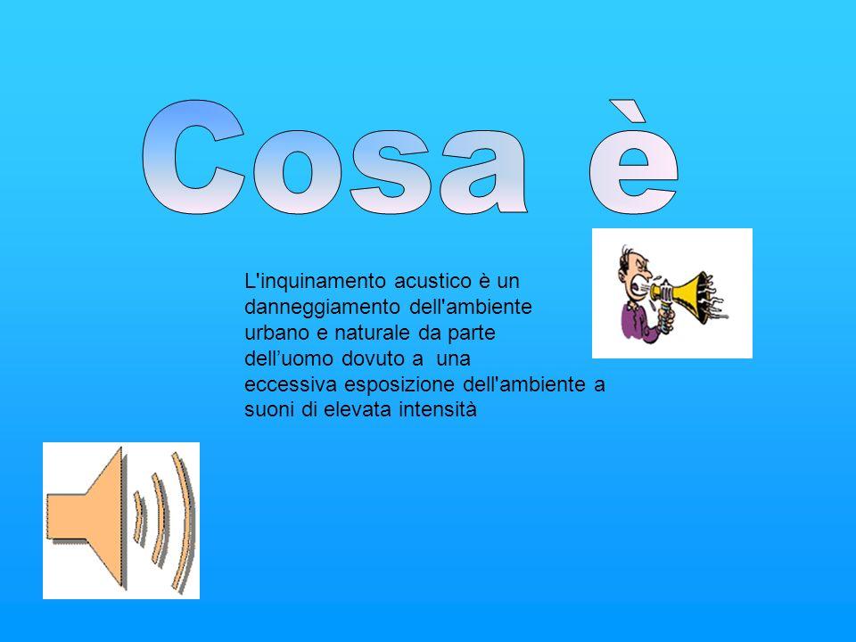 Cosa è L inquinamento acustico è un danneggiamento dell ambiente