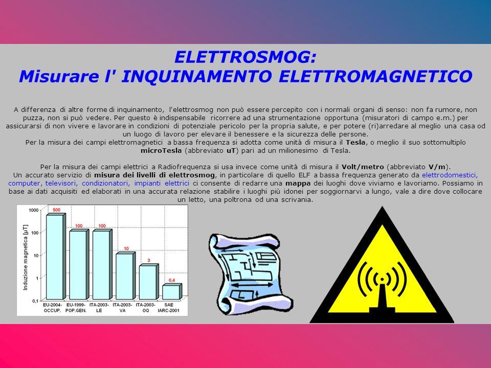 ELETTROSMOG: Misurare l INQUINAMENTO ELETTROMAGNETICO