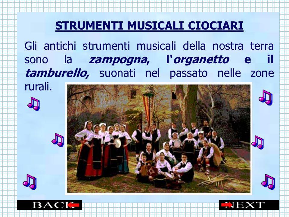 STRUMENTI MUSICALI CIOCIARI