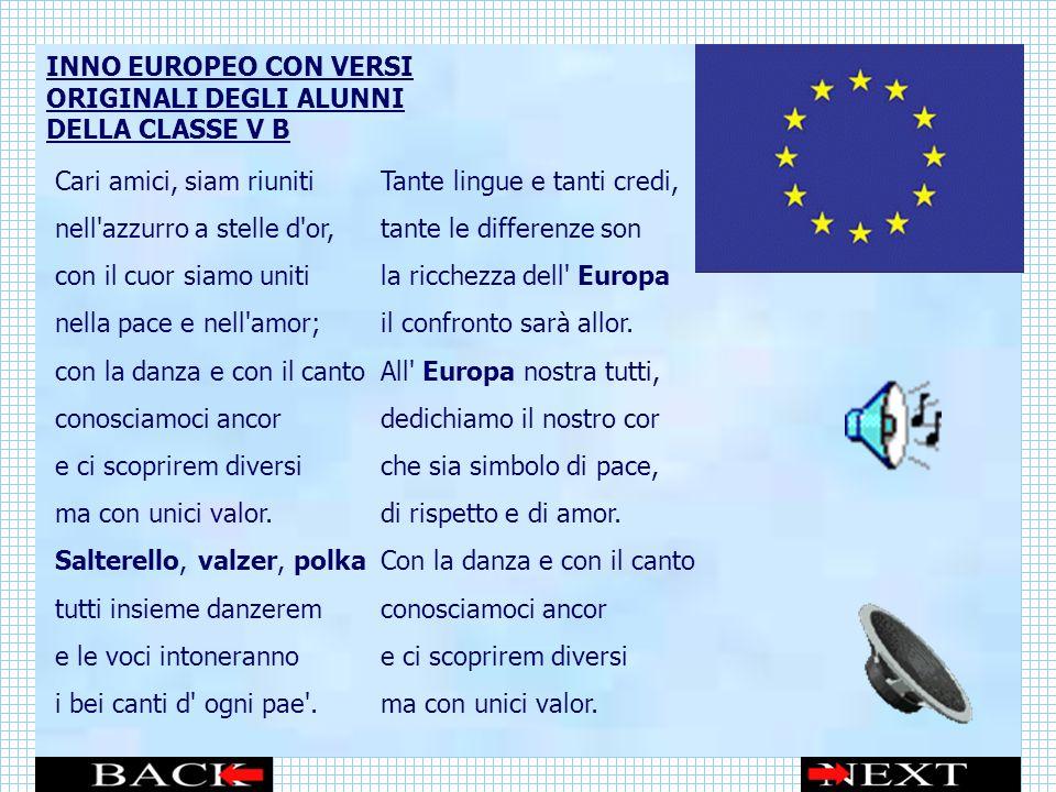 INNO EUROPEO CON VERSI ORIGINALI DEGLI ALUNNI DELLA CLASSE V B