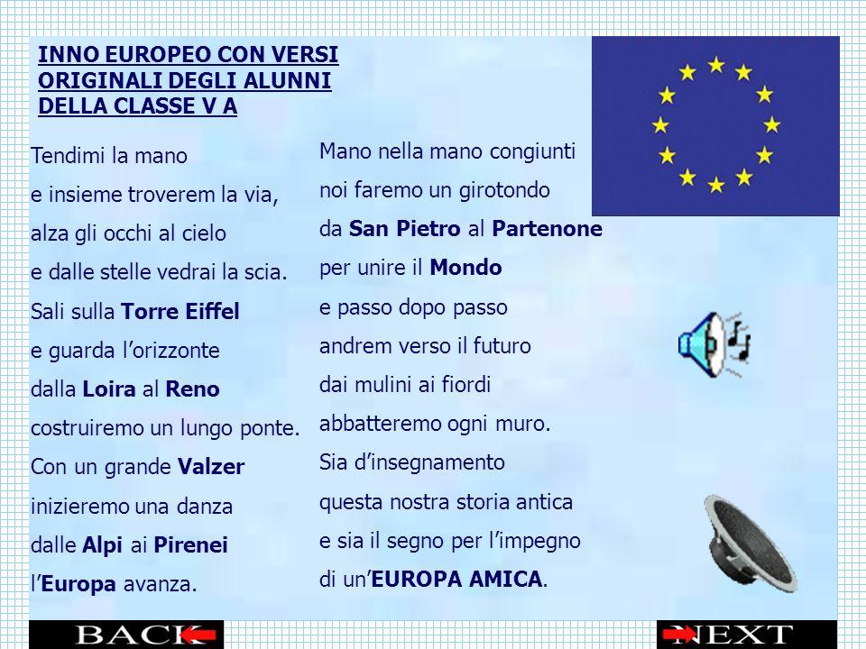 INNO EUROPEO CON VERSI ORIGINALI DEGLI ALUNNI DELLA CLASSE V A