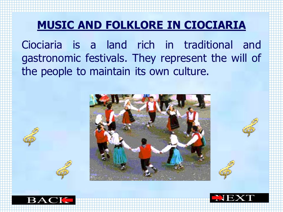 MUSIC AND FOLKLORE IN CIOCIARIA