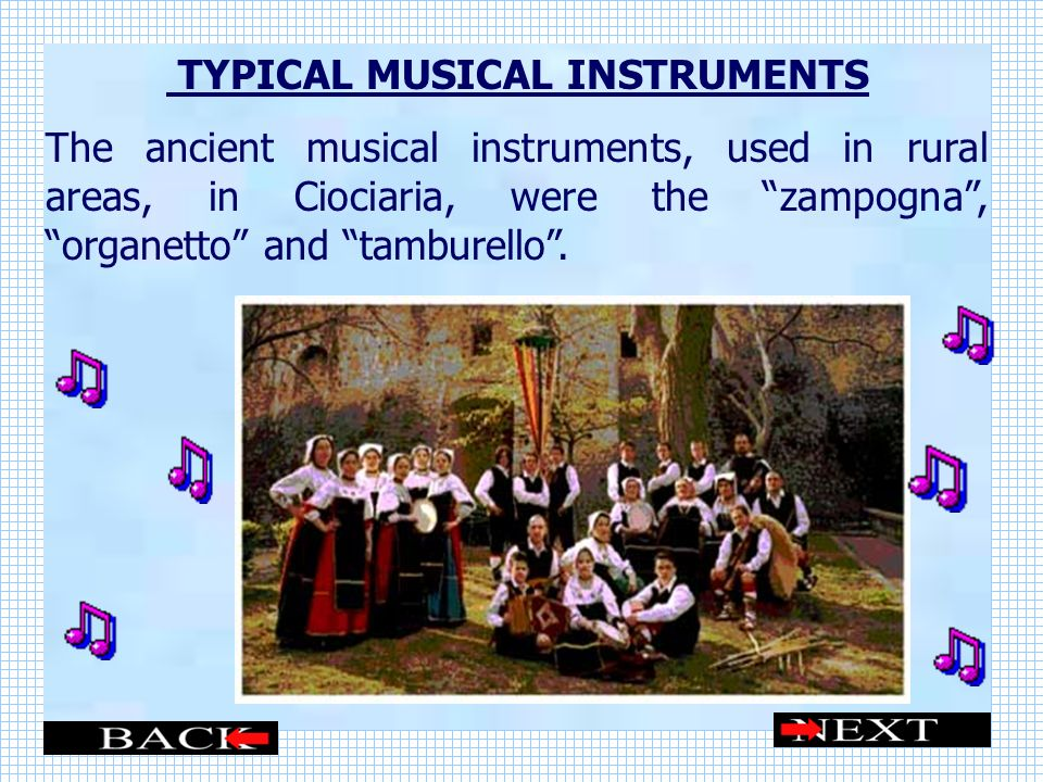 TYPICAL MUSICAL INSTRUMENTS