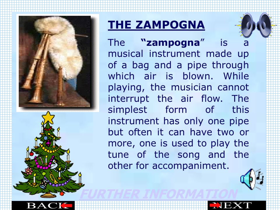 FURTHER INFORMATION THE ZAMPOGNA